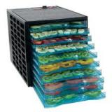 Good4U 10 Tray Dehydrator with 40 Hour Digital Timer - Black